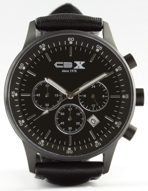 Chronograph 'CBX since 1978', mattschwarze Version